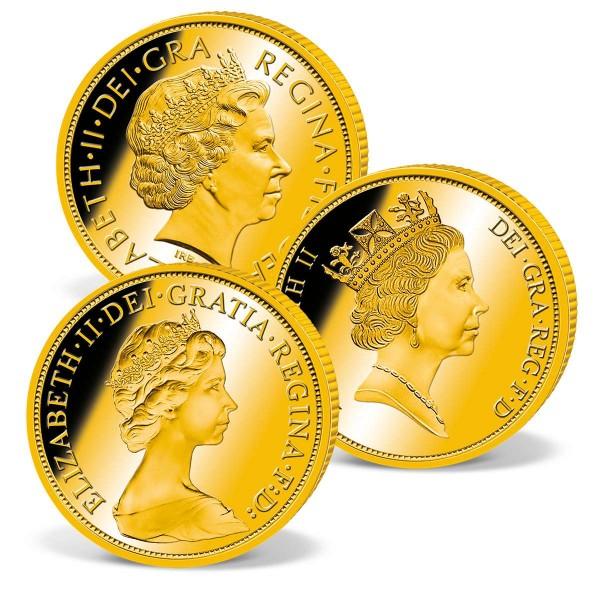 Set of 3 Gold Sovereigns 'Elizabeth II' UK_2460411_1