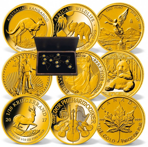 'The Big Nine' Complete Gold Coin Collection UK_2430700_1