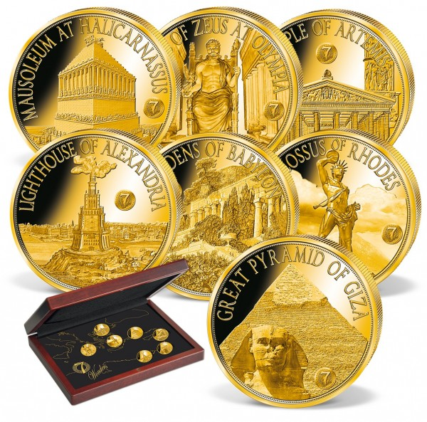 '7 Wonders of the Ancient World' Gold Coin Set UK_1739090_1