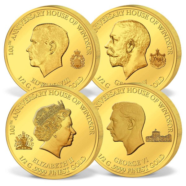 '100th Anniversary House of Windsor' four-coin gold set UK_1739082_1