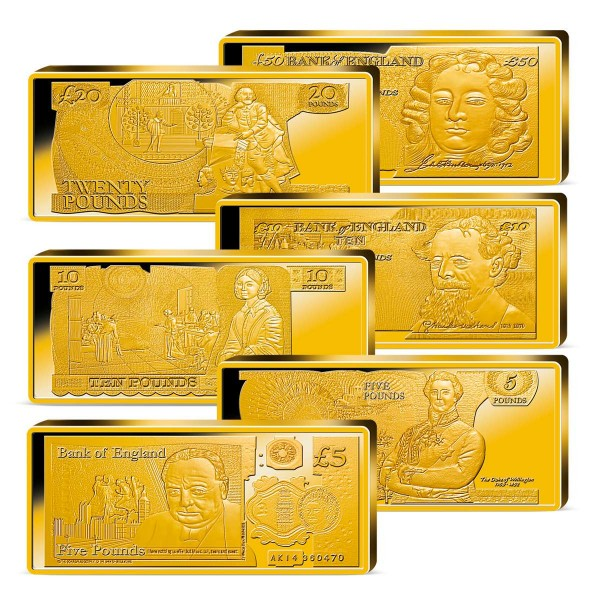 'British Banknotes' Golden Bars Set UK_9038312_1