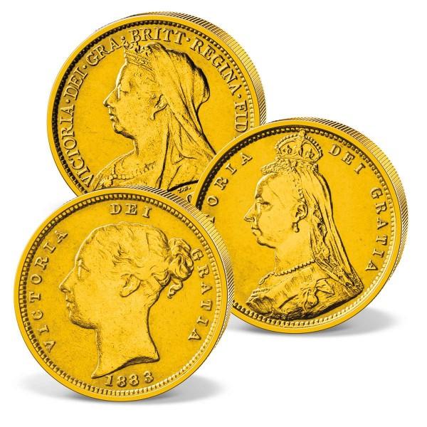 Three genuine historical 'Victoria' Gold Sovereigns UK_2460074_1