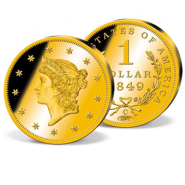 '1849-C Gold Liberty Head Dollar' Authorized Replica UK_8300600_1