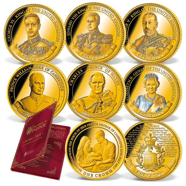 'The House of Windsor' Set of 8 Official Coins UK_1683240_1