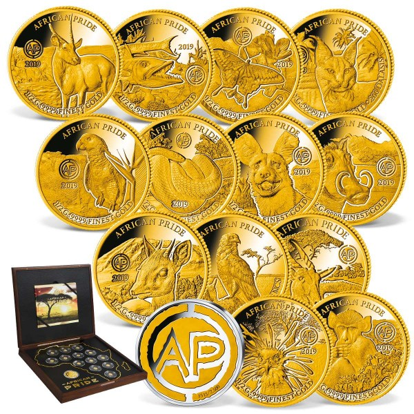 The 'African Pride' Complete Gold Coin Set UK_1739160_1