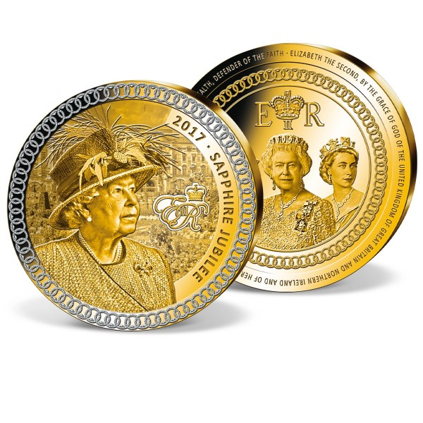 'Queen Elizabeth II - Sapphire Jubilee' Supersize Commemorative Strike UK_9173576_1