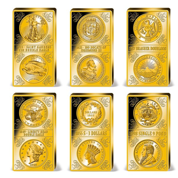 'Million Dollar' Complete Collection of Six Solid Gold Bars UK_9037310_1