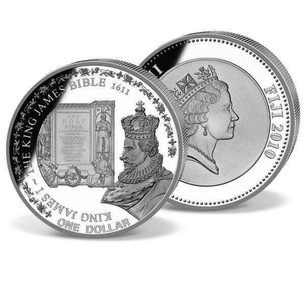 King James I and the Bible 1611 Commemorative Coin UK_1683005_1