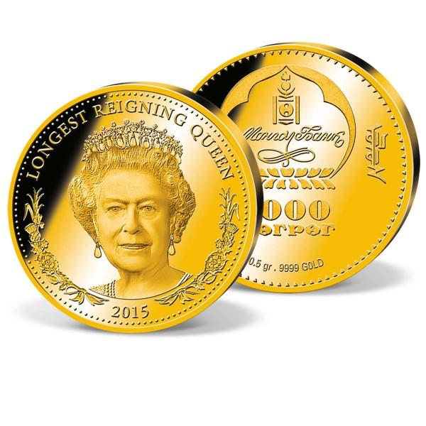 'Elizabeth II. - Longest reigning Queen' Gold Coin UK_9350745_1