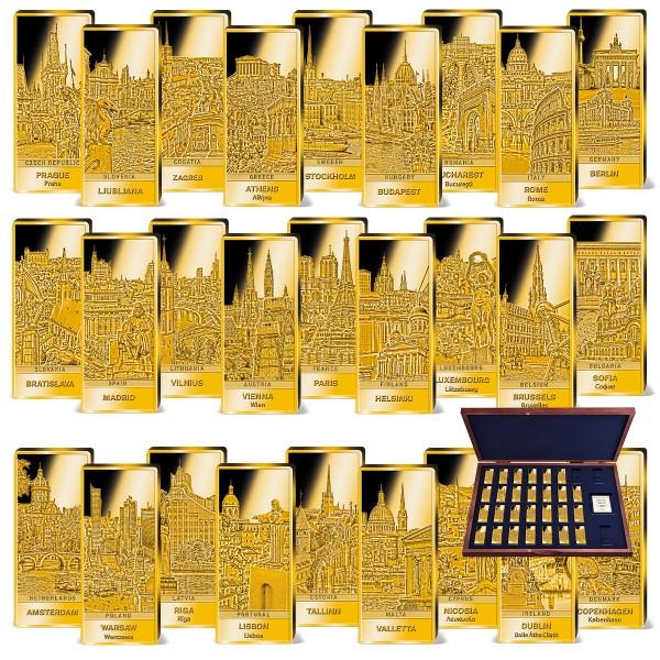 'Capitals of the EU' Golden Bar Complete Set UK_9034630_1