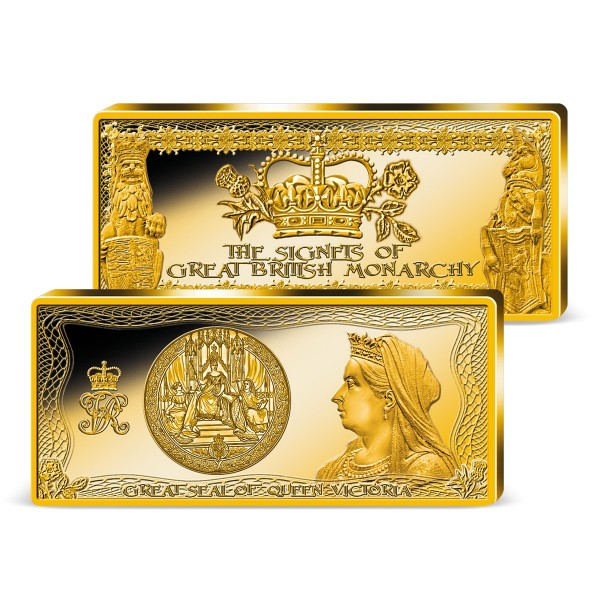 The 'Great Seal of Queen Victoria' Golden Commemorative Bar UK_9038353_1