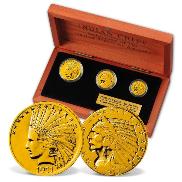 'Gold Indian Head' 3-Coin Set UK_2530130_1