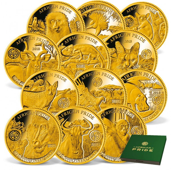 The 2018 'African Pride' Complete Gold Coin  Set UK_1739083_1