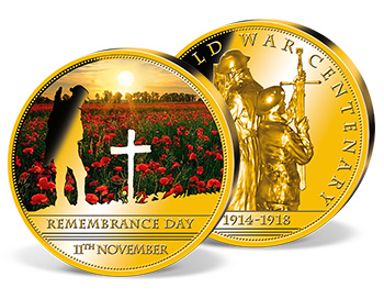 100th anniversary World War I Coins | Windsor Mint