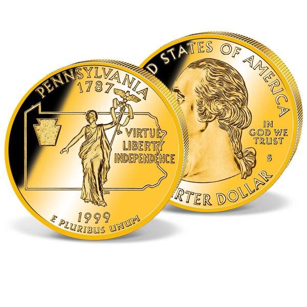 1999 Pennsylvania Quarter USA UK_2541599_1