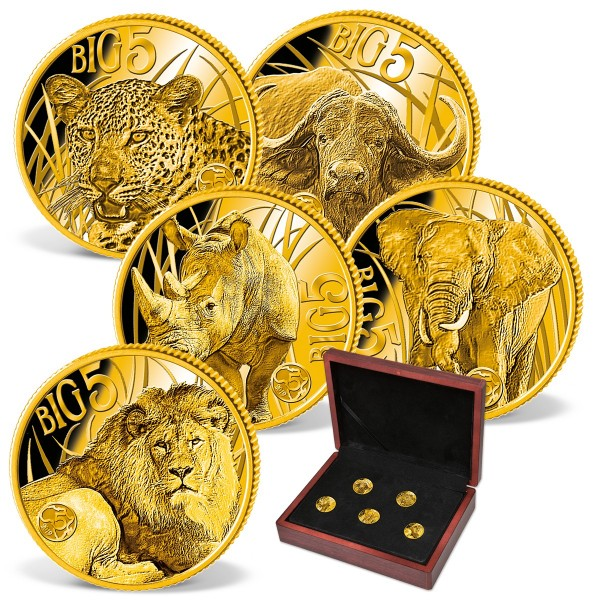 'Big Five' Complete Gold Coin Set UK_1683525_1