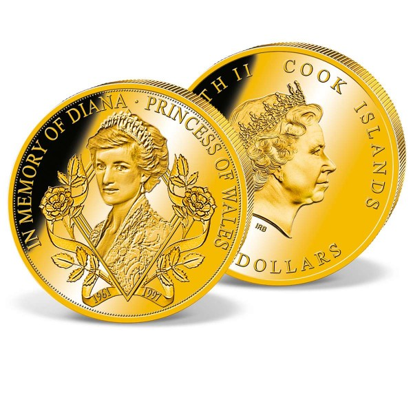 'Princess Diana' Official Commemorative Gold Coin UK_1683404_1