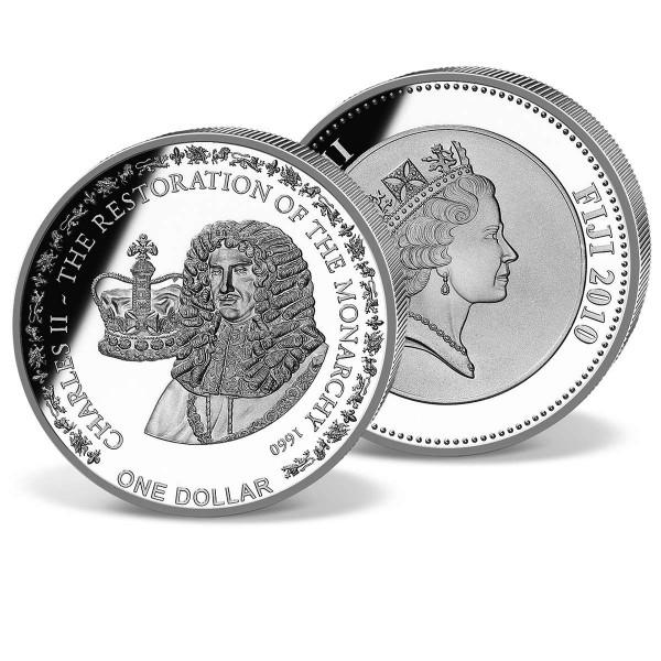 1 Dollar Fidji The Restoration of the Monarchy 1660 UK_1683006_1