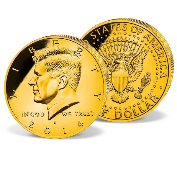 24k Gold-Layered Kennedy Half Dollar UK_2531319_1