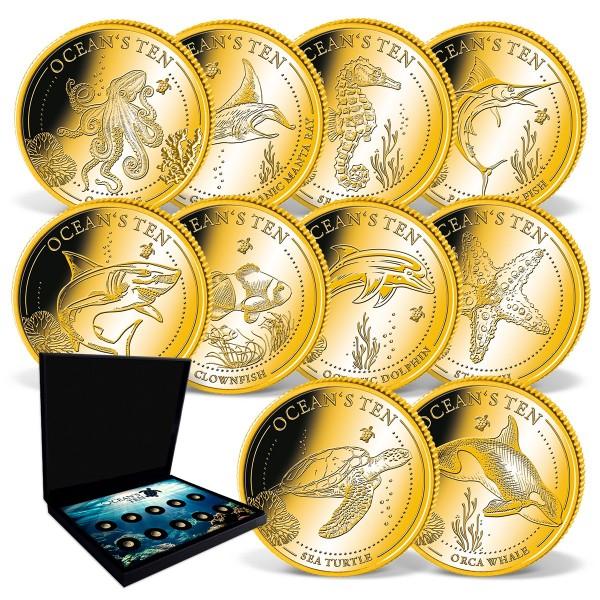 'Ocean's Ten' Gold Coin Complete Set UK_1739261_1