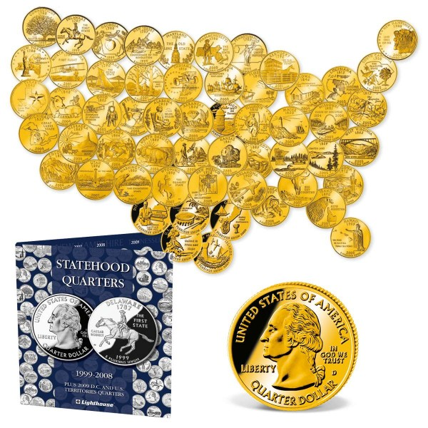 Official US State Quarters 'Gold Edition' UK_2542196_1