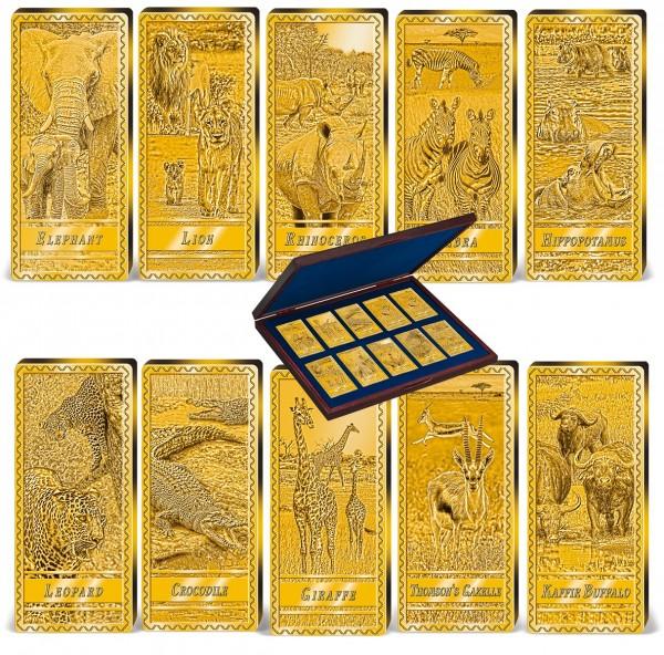 'African Wildlife' Complete Set of 10 Golden Bars UK_9038820_1