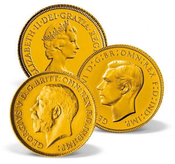 3-coin set 'The Windsor Gold Half Sovereign' UK_2460285_1