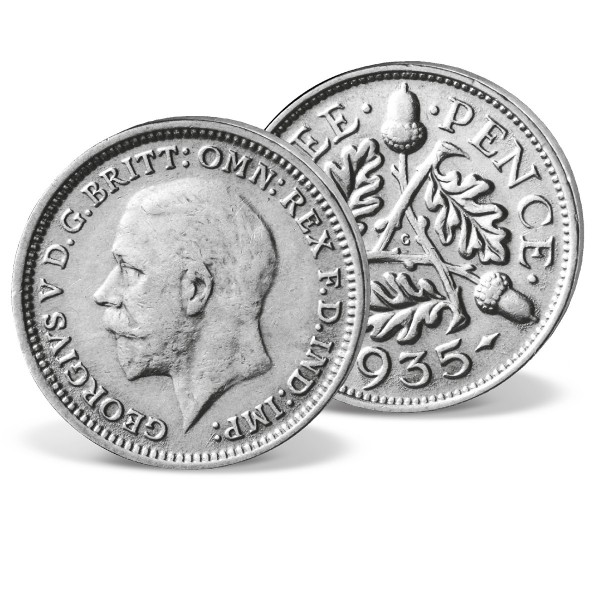 'King George V' Silver 3 Pence Coin