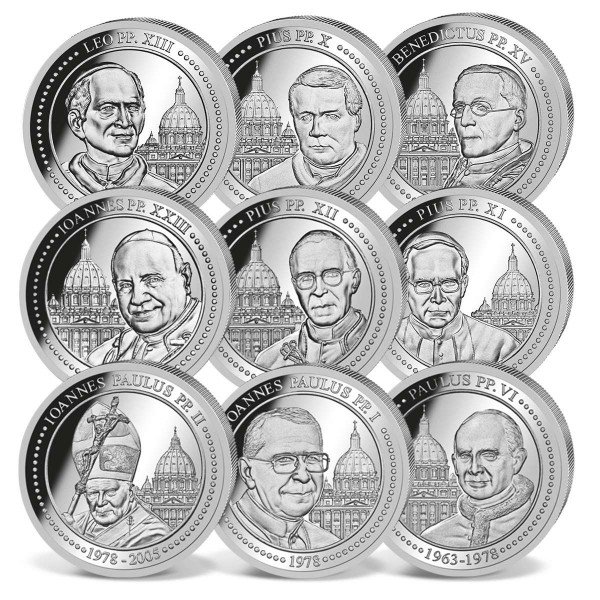 'Popes of the 20th Century' Silver Coin Set UK_1733031_1