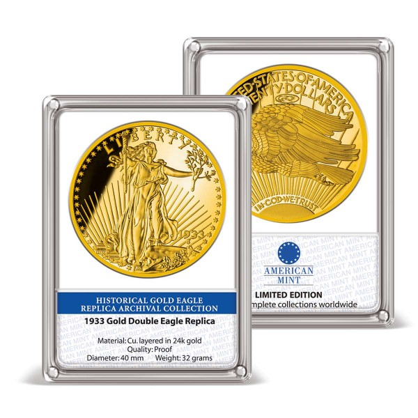 '1933 Gold Double Eagle' Replica Archival Collection UK_9172700_1