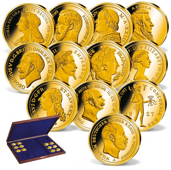 'Precious Gold of Europe' Complete Set in Gold UK_2160760_1