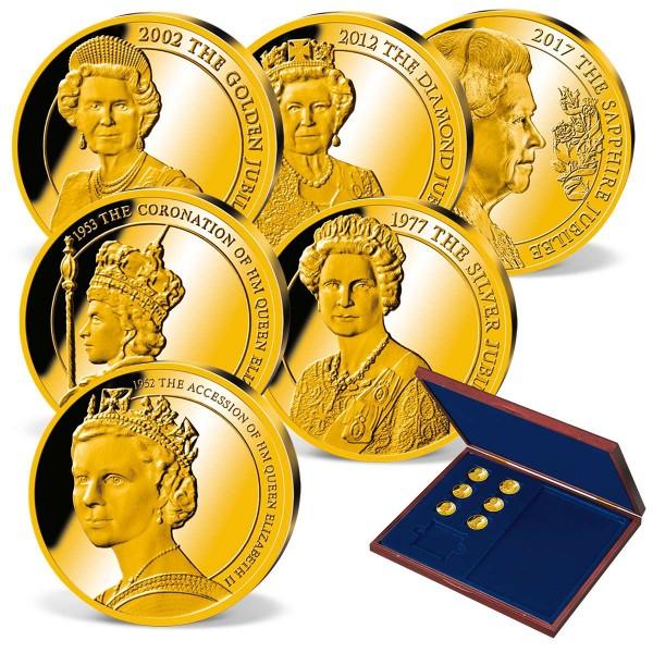 'Regency of Queen Elizabeth II' Gold Commemorative Strike Set UK_9172814_1