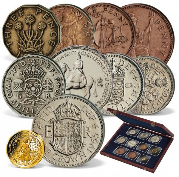 'Coins of the United Kingdom - Predecimalisation' Coin Set UK_2717981_1