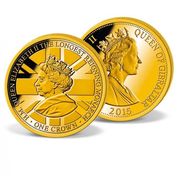 Official 1 Crown Commemorative Coin 'Queen Elizabeth II - Longest reigning monarch' UK_1683302_1