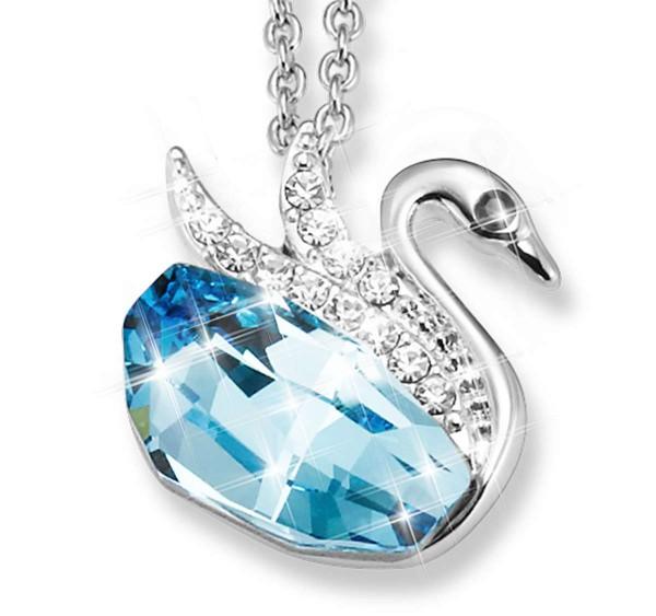 'Crystal Swan' Necklace UK_3333620_1