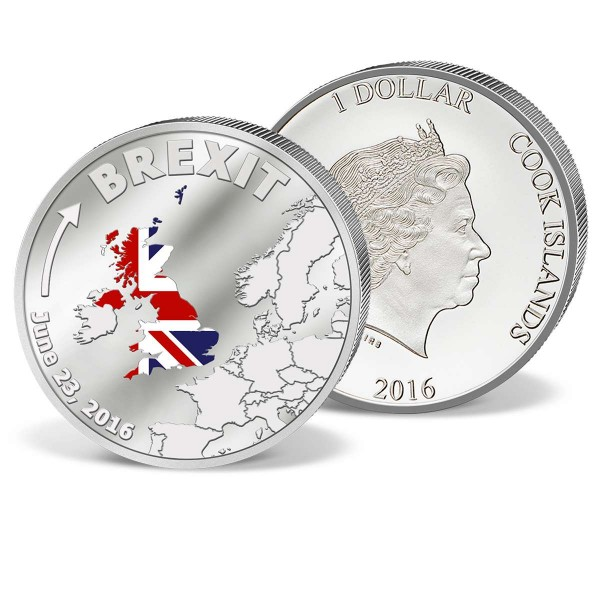 Silver Coin 1 Dollar  'Brexit' 2016 UK_9991027_1
