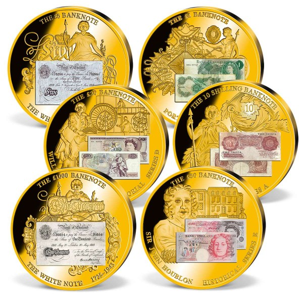 'British Banknotes' Set of Supersize Commemorative Strikes UK_1942082_1