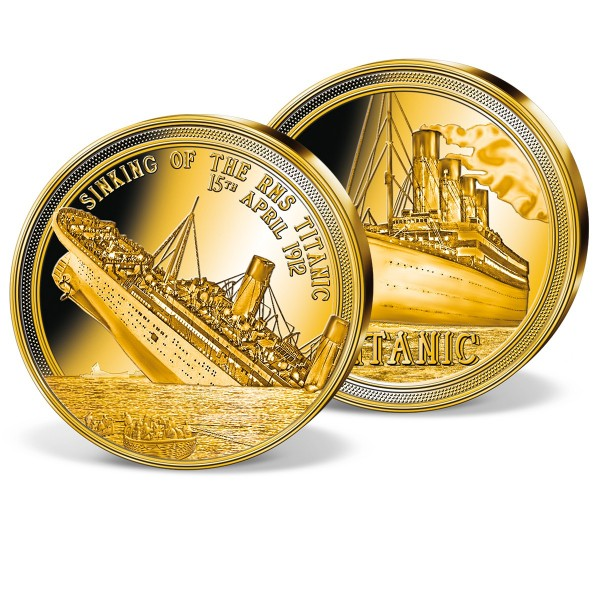 'Sinking of the Titanic' Solid Gold Commemorative Strike UK_1954201_1