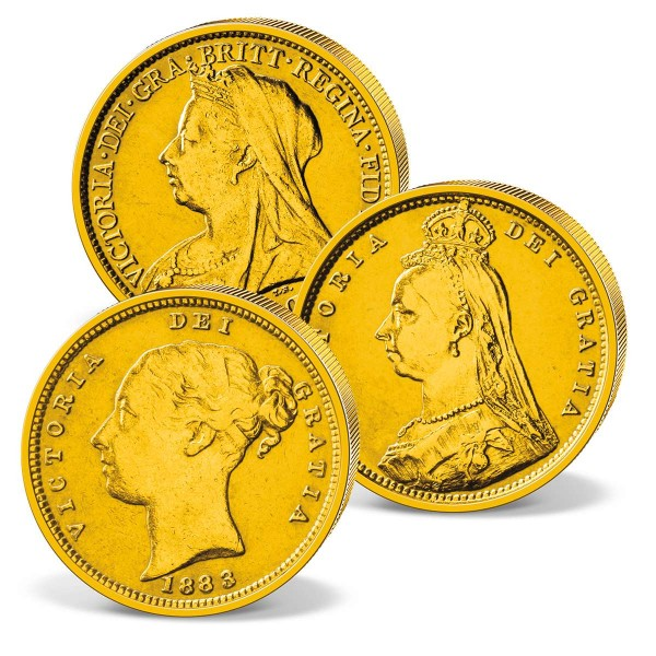 Three genuine historical 'Victoria' Gold Sovereigns UK_2460074_1