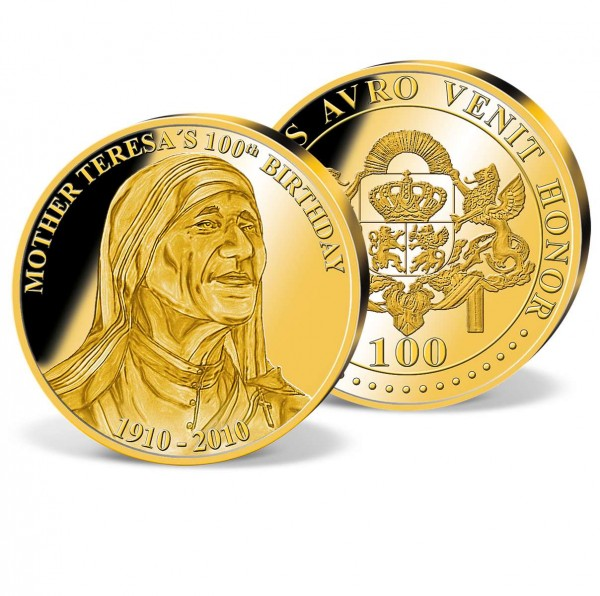 100th Birthday Mother Teresa Gold Commemorative UK_2160151_1