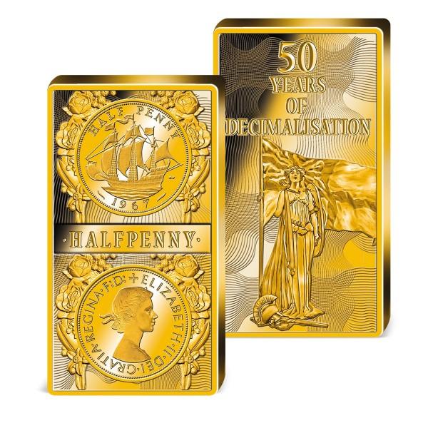 'Halfpenny' Commemorative Golden Bar UK_8325901_1