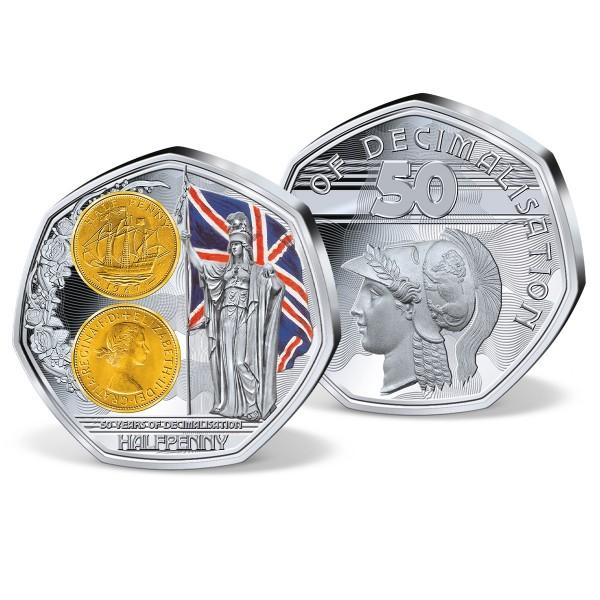 '1/2 Penny - 50 years of decimalisation' Commemorative Strike UK_8325811_1