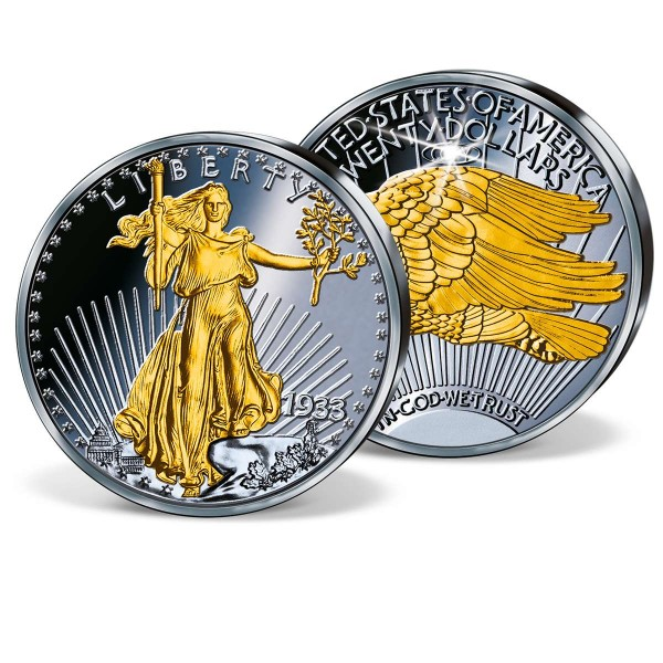 '1933 Double Eagle Ruthenium-Plated Replica' Commemorative Strike UK_8201665_1