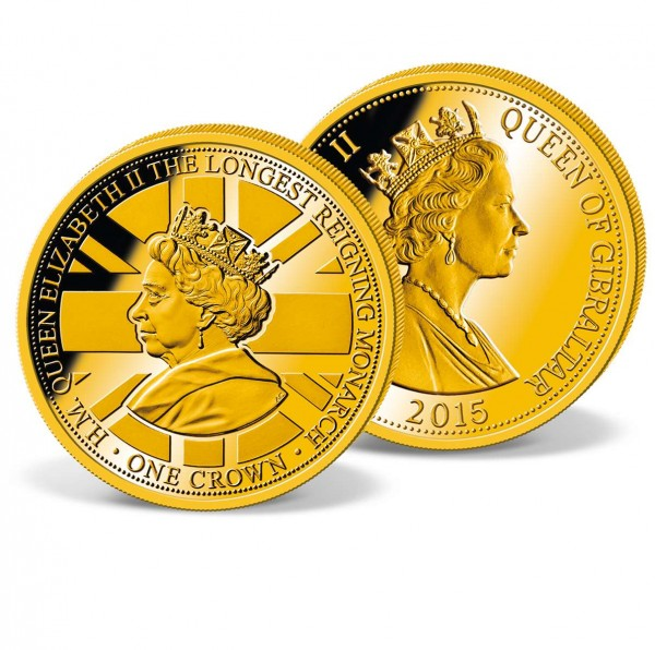 Official 1 Crown Commemorative Coin 'Queen Elizabeth II - Longest reigning monarch' UK_1683302_1