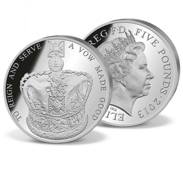 £5 Queens Coronation Crown Commemorative Coin UK_2424055_1