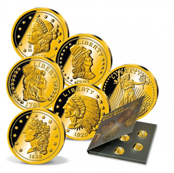 'Solid Gold Eagle Replicas' Set UK_9322300_1