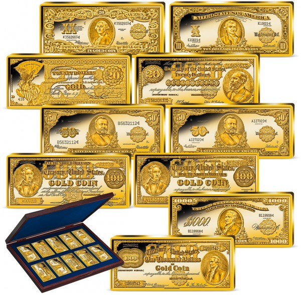 'Gold Certificate Ingot Collection' Complete Set UK_9171399_1