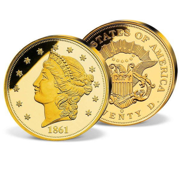 '1861 Gold Double Eagle' Replica Coin UK_8200267_1
