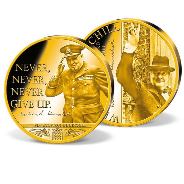 Winston Churchill - Never give up - Supersize Commemorative Strike UK_1720301_1