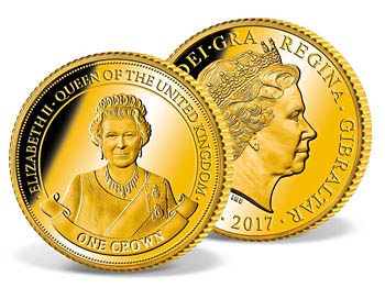 One Crown Coin Gibraltar 'Elizabeth II'